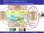 scec it architecture for a community modeling environment1