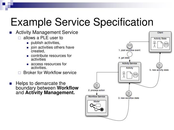 Activity Management Service