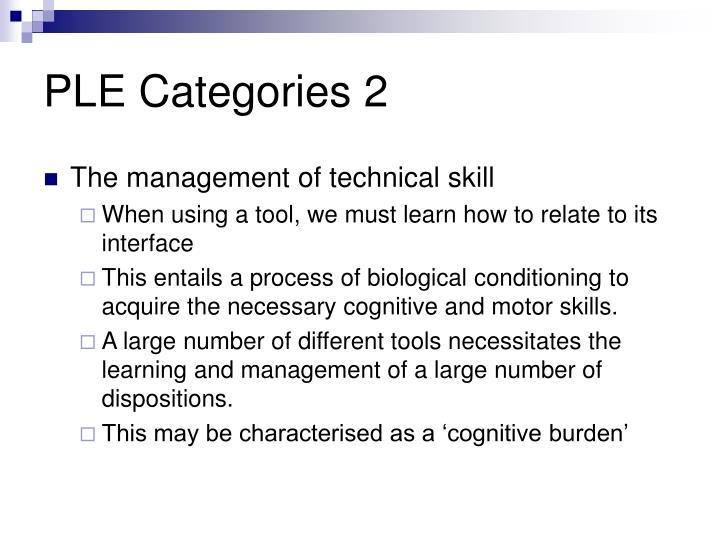 PLE Categories 2