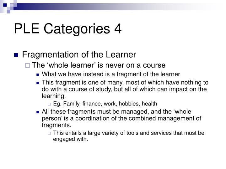 PLE Categories 4