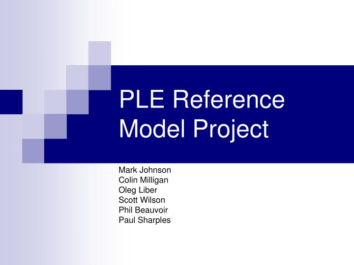 Ple reference model project