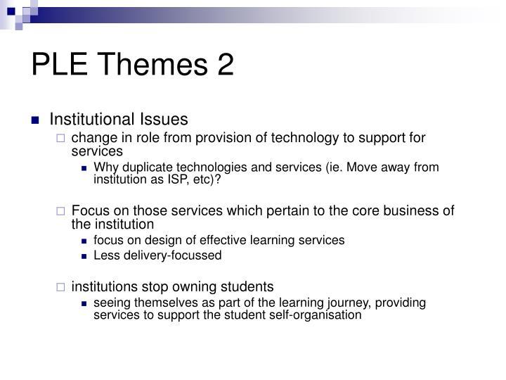 PLE Themes 2