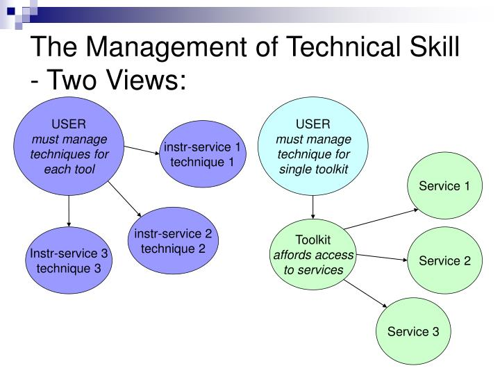 The Management of Technical Skill - Two Views: