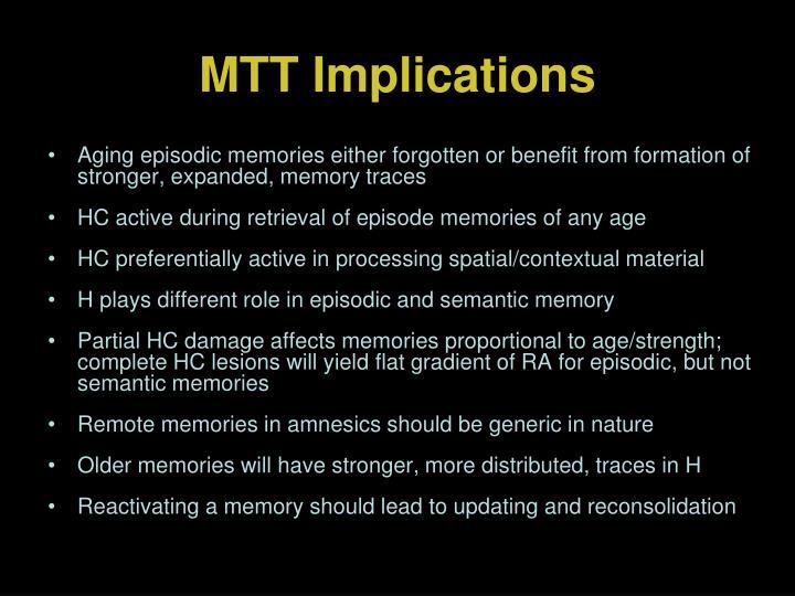 MTT Implications