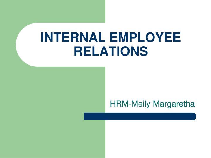 internal employee relations n.