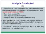 analysis conducted
