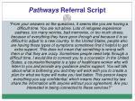 pathways referral script