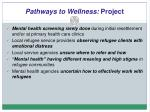 pathways to wellness project