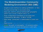 the modelassembler community modeling environment ma cme