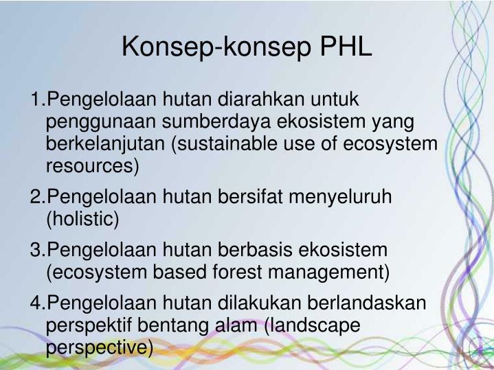 Konsep-konsep PHL