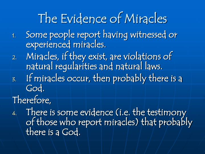 The Evidence of Miracles