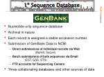 1 sequence database