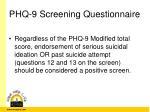 phq 9 screening questionnaire2