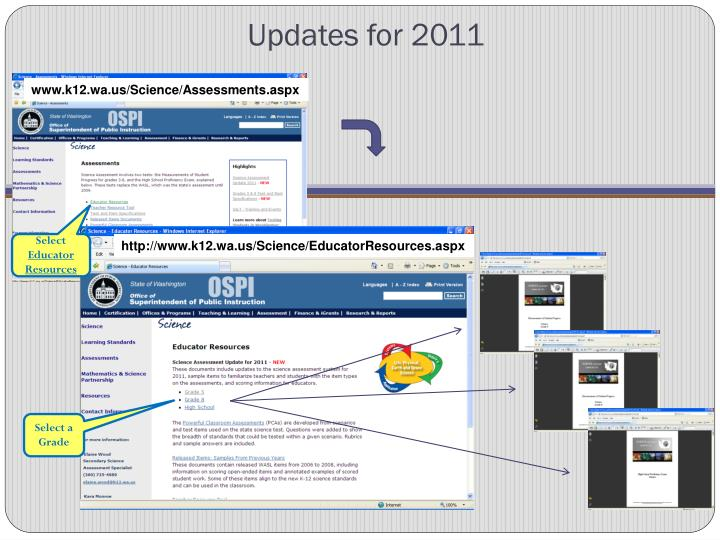 Updates for 2011