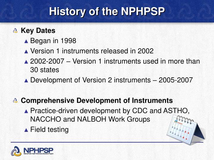 History of the NPHPSP