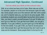 advanced high speaker continued1