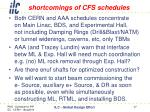 shortcomings of cfs schedules