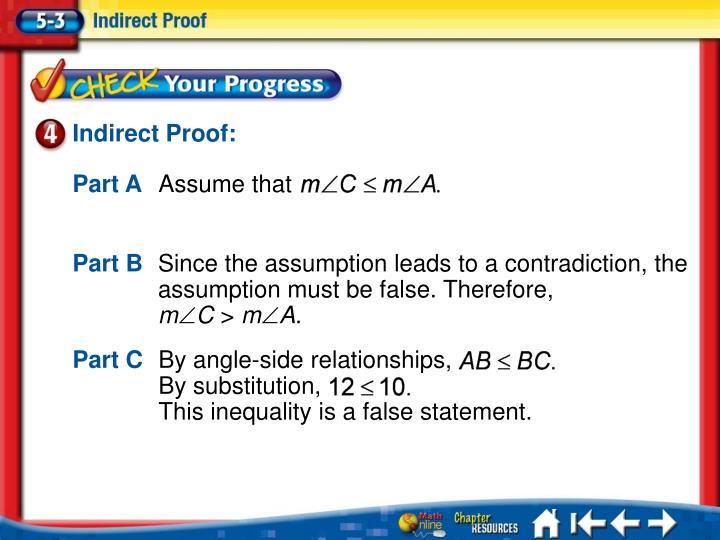 Indirect Proof: