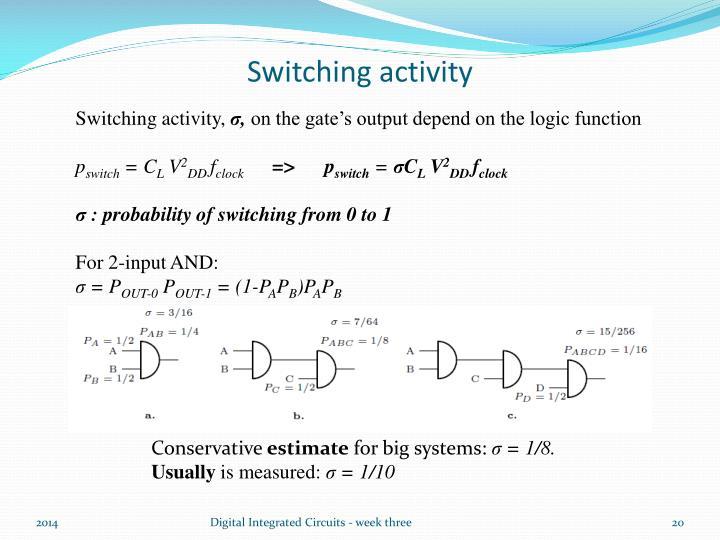 Switching activity
