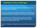 summary of key challenges