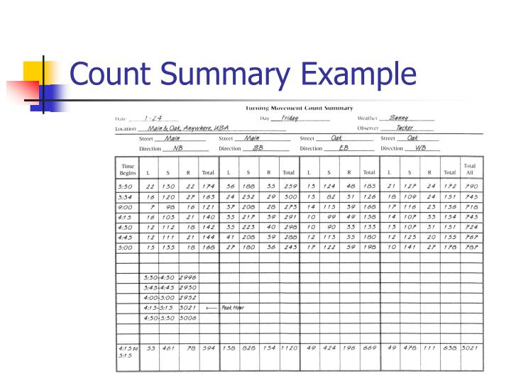 Count Summary Example