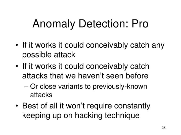 Anomaly Detection: Pro