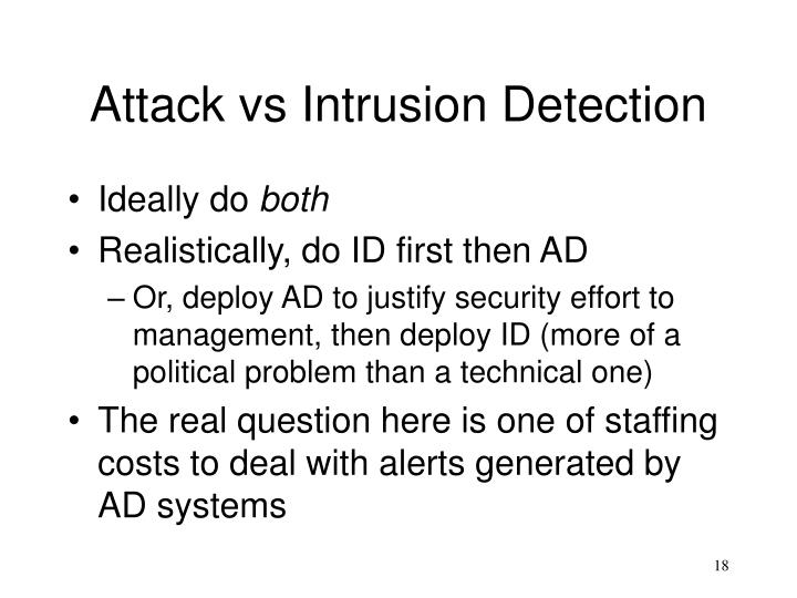 Attack vs Intrusion Detection