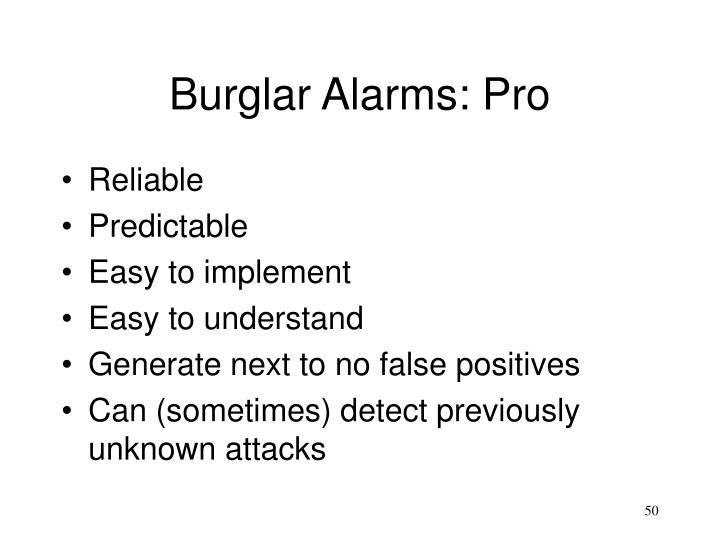 Burglar Alarms: Pro