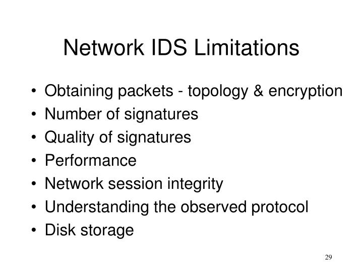 Network IDS Limitations