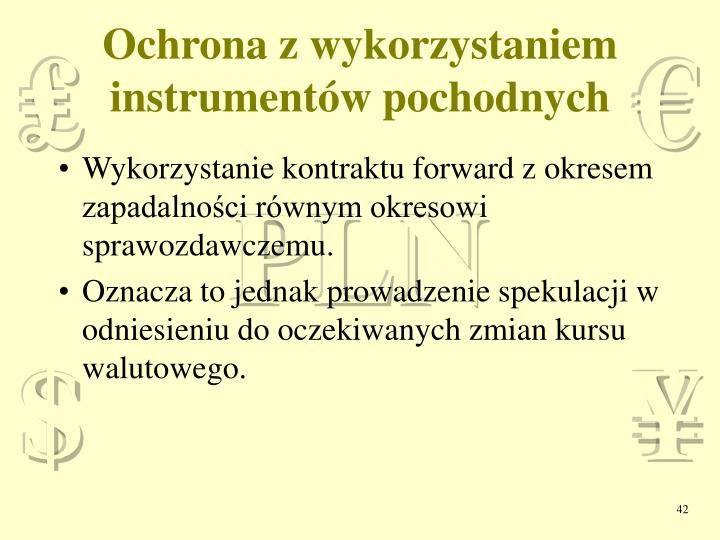 Ochrona z wykorzystaniem instrumentów pochodnych