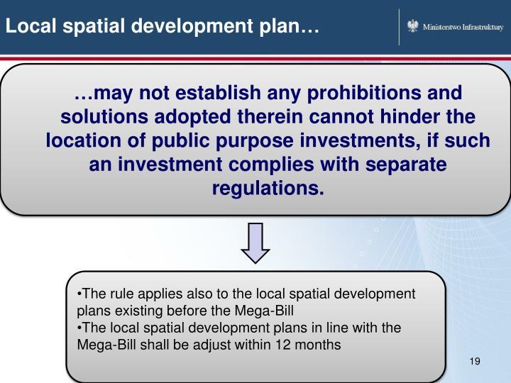 Local spatial development plan