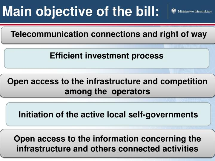 Main objective of the bill: