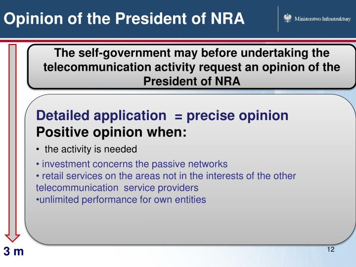 Opinion of the President of NRA