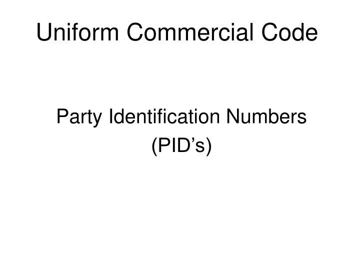 uniform commercial code n.