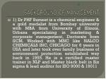 background of management