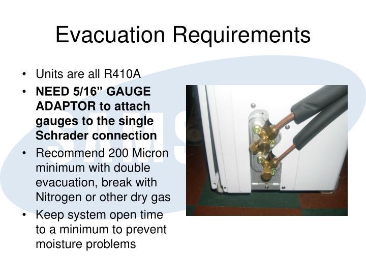 Evacuation Requirements
