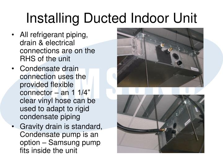 Installing Ducted Indoor Unit