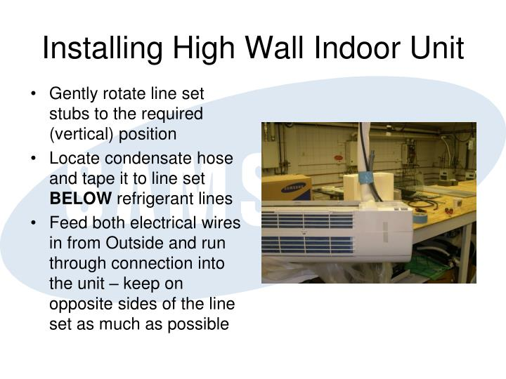 Installing High Wall Indoor Unit