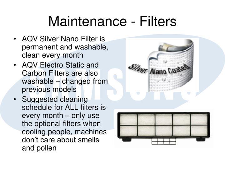 Maintenance - Filters
