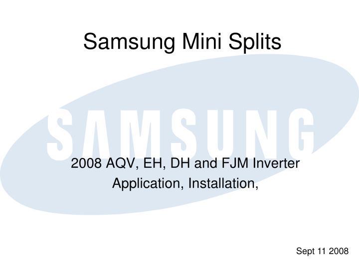 Samsung mini splits