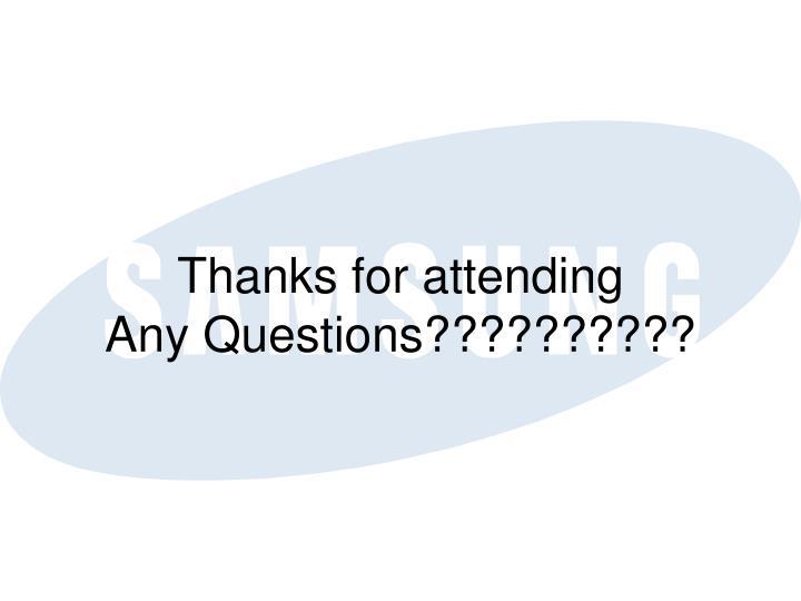 Thanks for attending
