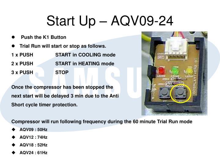 Start Up – AQV09-24