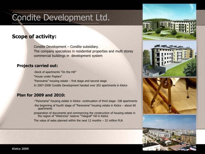 Condite Development Ltd.