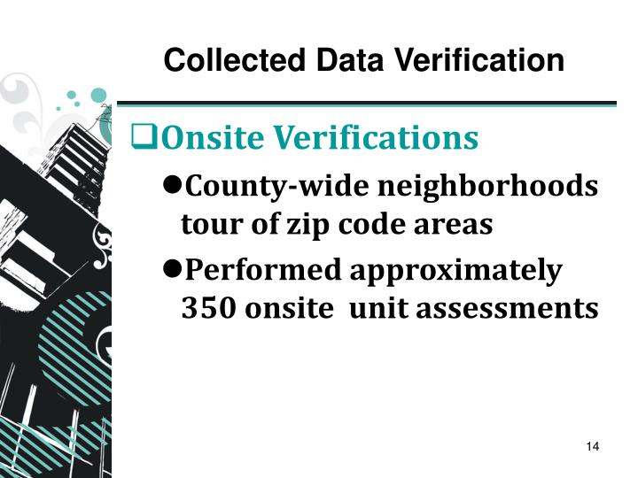 Collected Data Verification