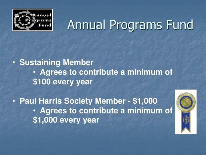 Annual Programs Fund