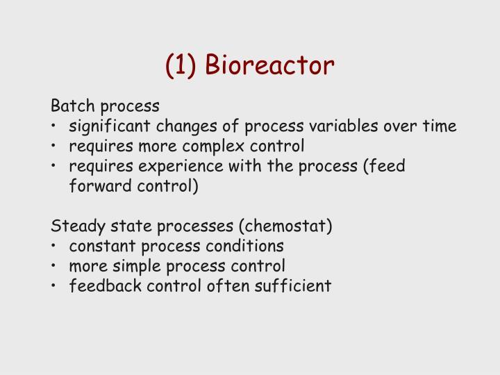 (1) Bioreactor