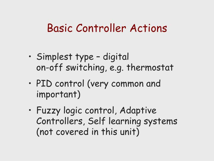 Basic Controller Actions