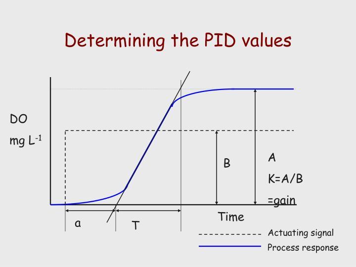 Determining the PID values