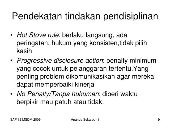 Pendekatan tindakan pendisiplinan