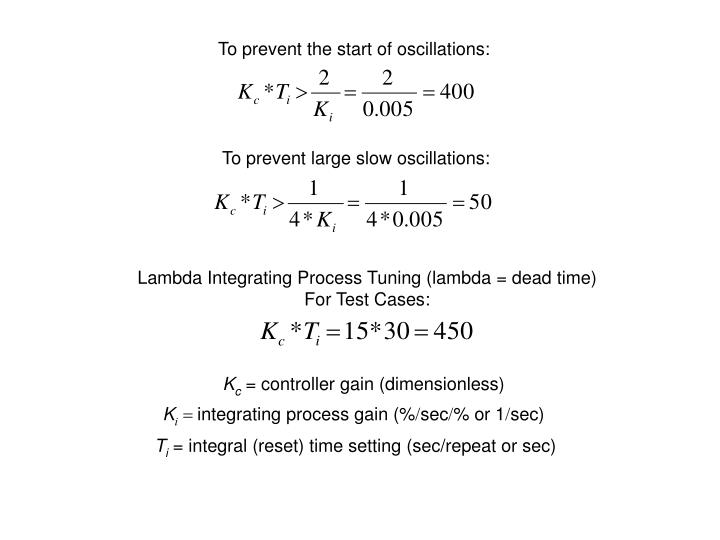 To prevent the start of oscillations: